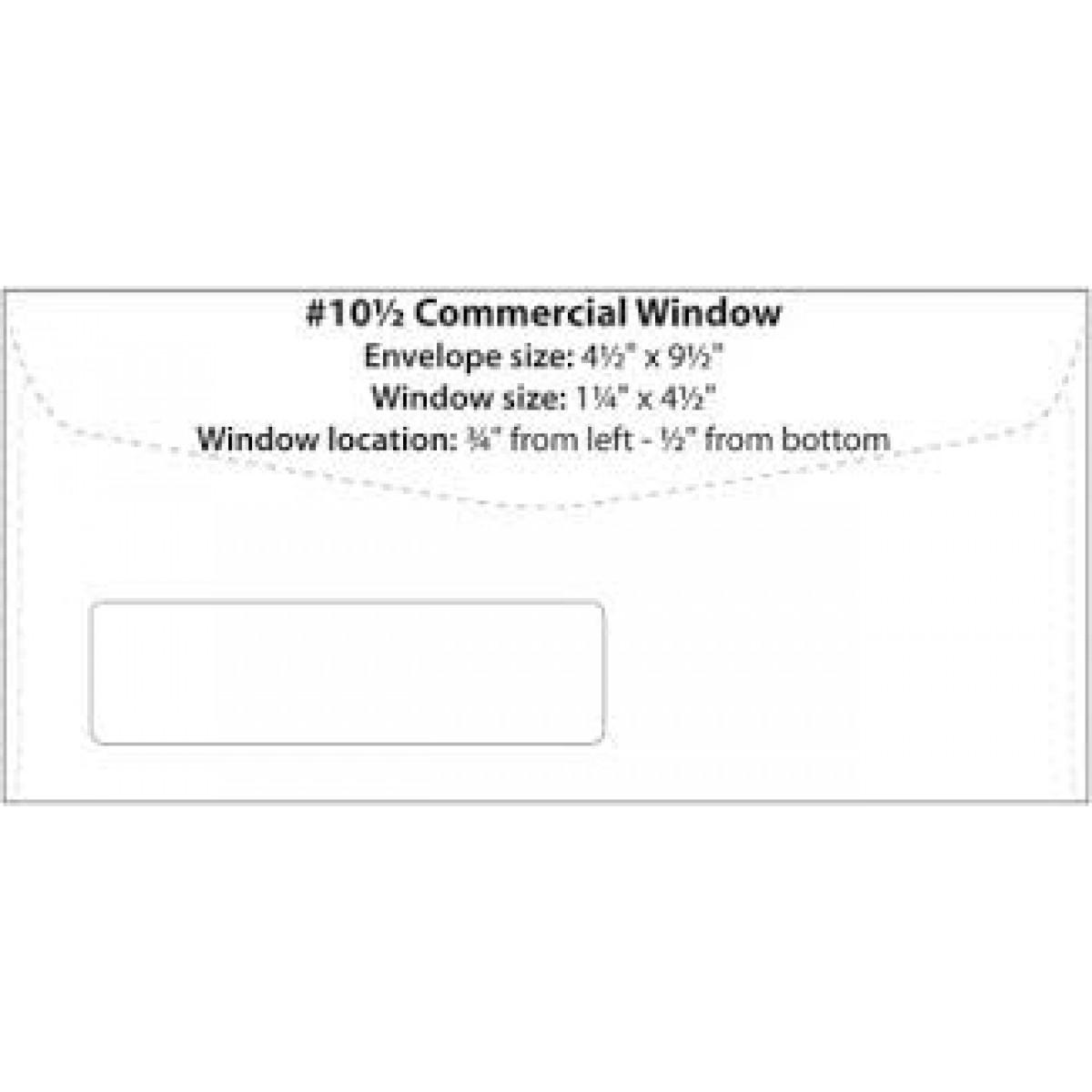 10 window envelopes custom printed