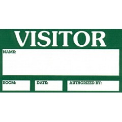 101A - Visitor Label Badge