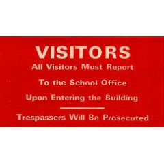 101B - Visitor Notice Window Decal