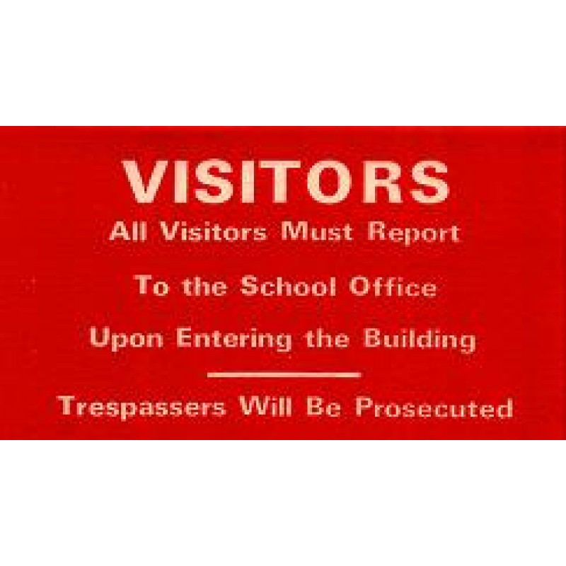 101B - Visitor Notice Window Decal - Misc. - Loose Visitor Badges, Decals & Supplies