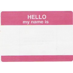 102 - Hello My Name Is Badge