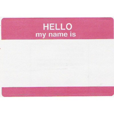 102 - Hello My Name Is Badge - Misc. - Loose Visitor Badges, Decals & Supplies