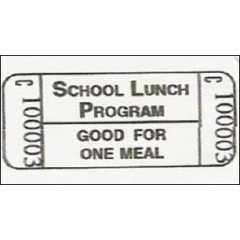 18X - No Alpha Prefix Lunch Roll Tickets