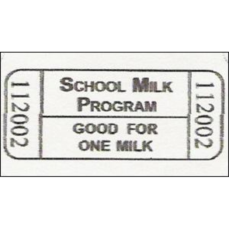 18R - Milk Roll Tickets - Roll Tickets
