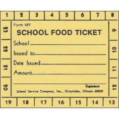 18Y - 23 Punch School Food Ticket