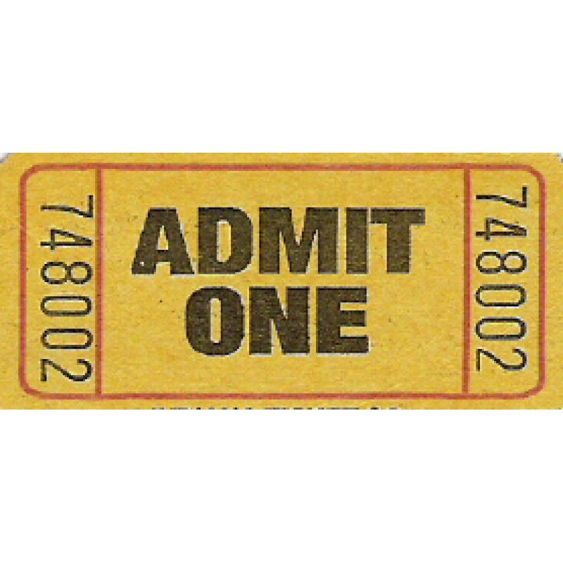202 - Admission Roll Tickets - Roll Tickets