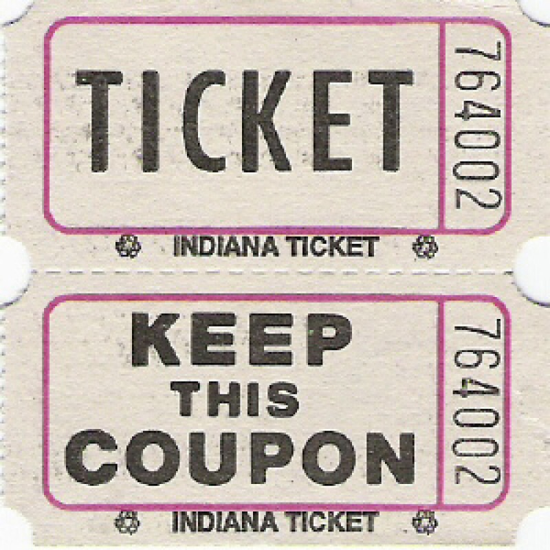 204 - Coupon Roll Tickets - Roll Tickets