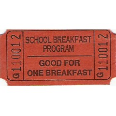 20C - J Prefix Breakfast Roll Tickets