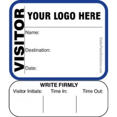 624 - Extra Small Visitor Label Badges Book with Sign-Out Stub