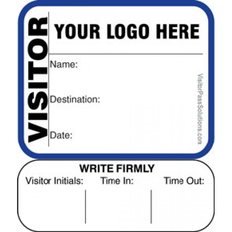 624 - Extra Small Visitor Label Badges Book with Sign-Out Stub - Visitor Label Registry Books