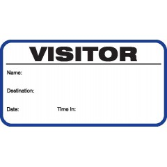 701 - Stock Visitor Label Badges Book