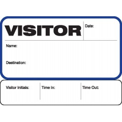 702 - Stock Visitor Label Badges Book with Sign-Out Stub