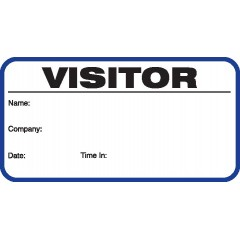 703 - Stock Visitor Label Badges Book
