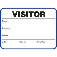 705 - Stock Large Visitor Label Badges Book