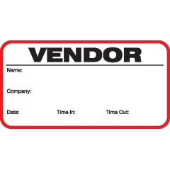 708 - Stock Vendor Label Badges Book