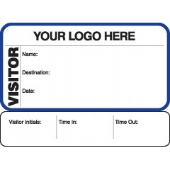 711 - Visitor Label Badges Book with Sign-Out Stub