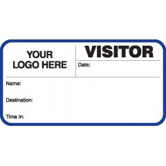 713 - Visitor Label Badges Book