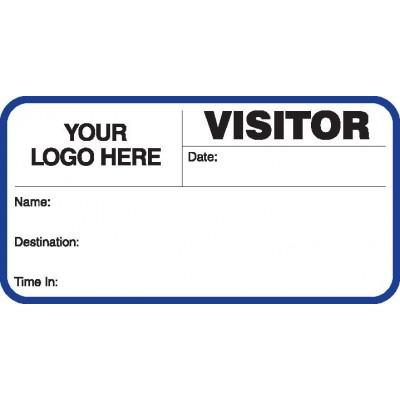 713 - Visitor Label Badges Book - Visitor Label Registry Books