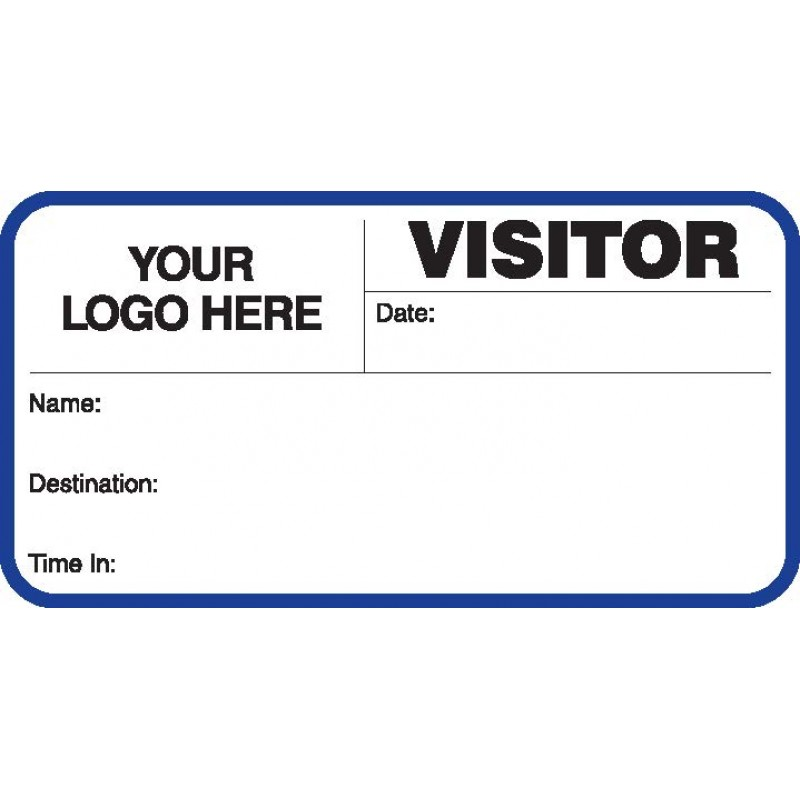 713 - Visitor Label Badges Book - Visitor Label Registry Books