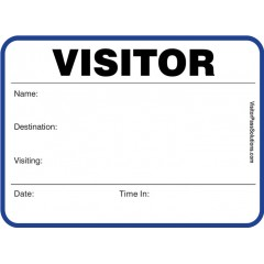717 - Stock Large Visitor Label Badges Book