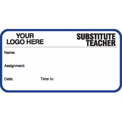746 - Substitute Teacher Label Badges Book