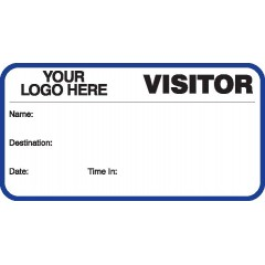 750 - Visitor Label Badges Book