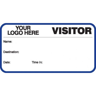 750 - Visitor Label Badges Book - Visitor Label Registry Books