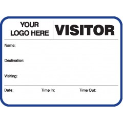 752A - Large Visitor Label Badges Book