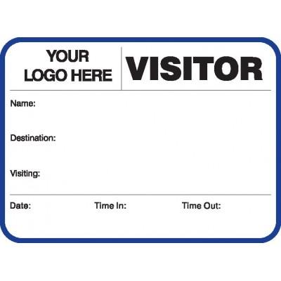 752A - Large Visitor Label Badges Book - Visitor Label Registry Books