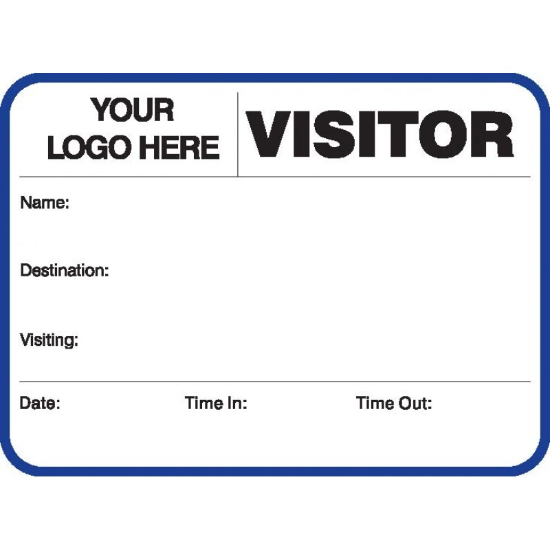 752A - Large Visitor Label Badges Book - Visitor Label Registry Books