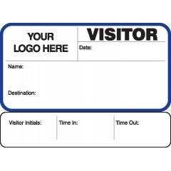 755 - Visitor Label Badges Book with Sign-Out Stub