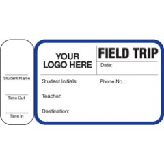 764S - Field Trip Label Badges Book with Side Sign-Out Stub (150 Badges)