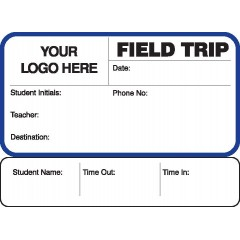 773 - Field Trip Label Badges Book with Sign-Out Stub