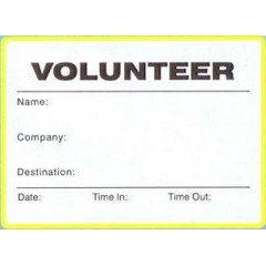 776 - Large Volunteer Label Badges Book