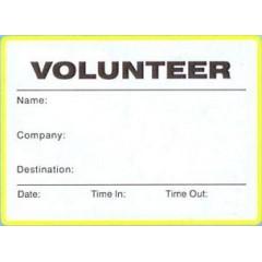 776 - Large Volunteer Label Badges Book