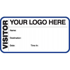 783 - Visitor Label Badges Book
