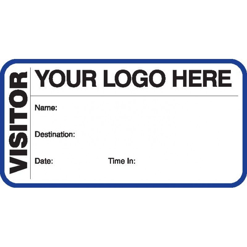 783 - Visitor Label Badges Book - Visitor Label Registry Books