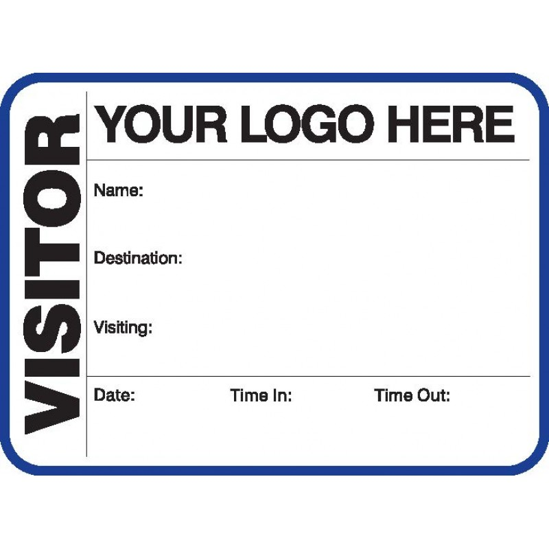 791A - Large Visitor Label Badges Book - Visitor Label Registry Books