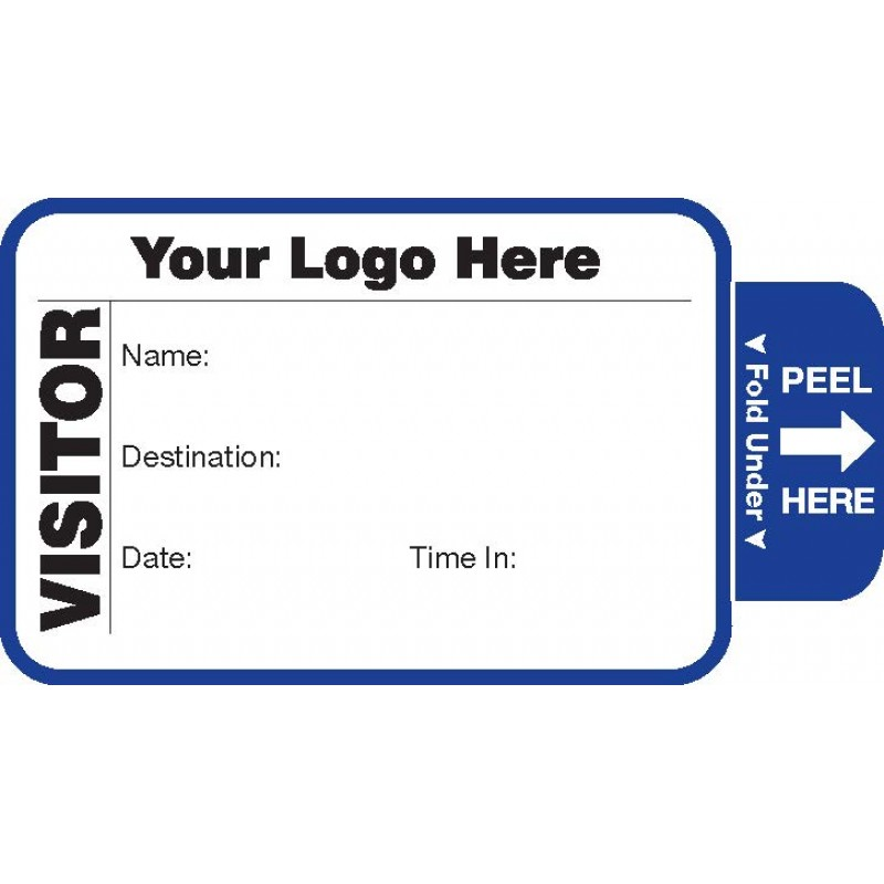 802 - Expiring Visitor Label Badges Book - One Day Visitor Label Registry Books