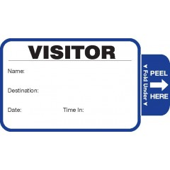 806 - Stock Expiring Visitor Label Badges Book