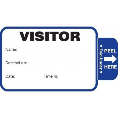 806 - Stock Expiring Visitor Label Badges Book - One Day Visitor Label Registry Books