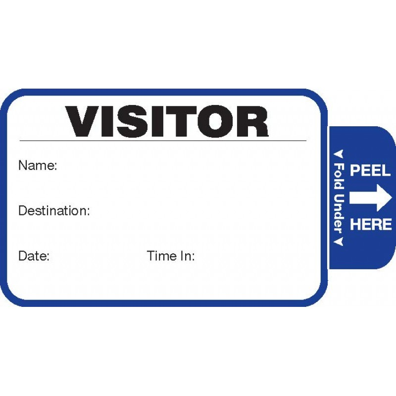 806 - Stock Expiring Visitor Label Badges Book - One Day Visitor Label Registry Books