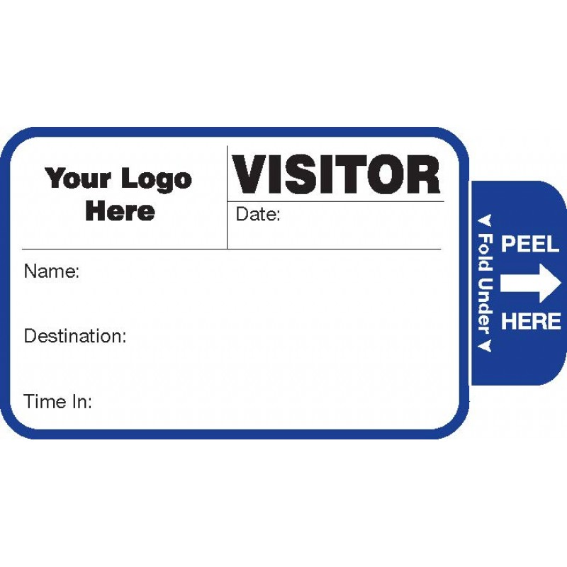 808 - Expiring Visitor Label Badges Book - One Day Visitor Label Registry Books