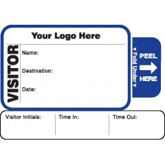 810 - Expiring Visitor Label Badges Book with Sign-Out Stub