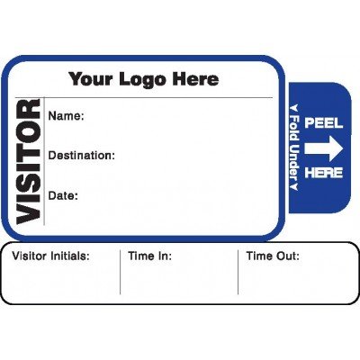 810 - Expiring Visitor Label Badges Book with Sign-Out Stub - One Day Visitor Label Registry Books