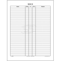 101C - Sign-in Sheet