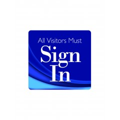 101F - Visitor Sign In Window Decal
