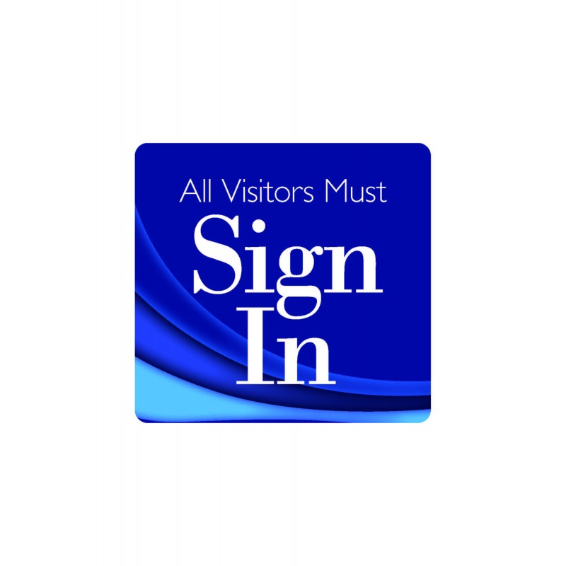 101F - Visitor Sign In Window Decal - One Day Visitor Label Registry Books
