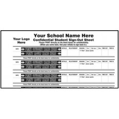 110-IM Confidential Student Sign-Out Book