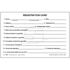 14D - Large Registration/Daily Program